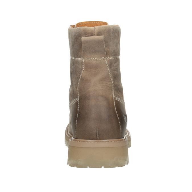 Brązowe skórzane buty za kostkę weinbrenner, 896-8702 - 16