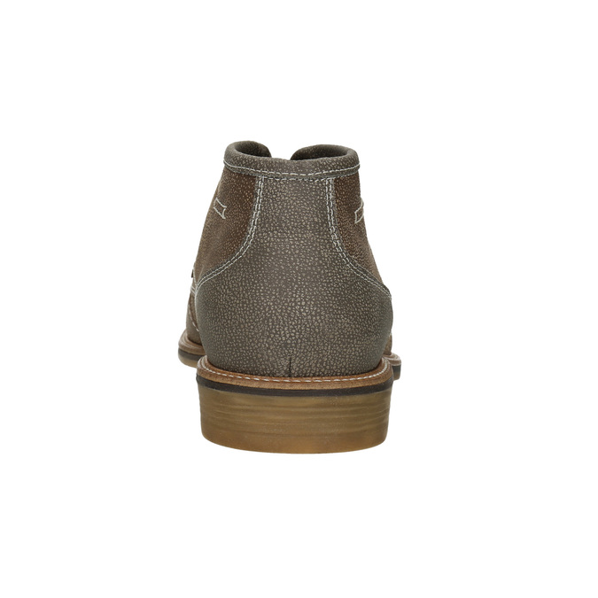 Obuwie męskie za kostkę, zprzeszyciami bata, brązowy, 826-4920 - 16