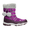 Śniegowce dziewczęce zpomponami mini-b, fioletowy, 399-5656 - 15