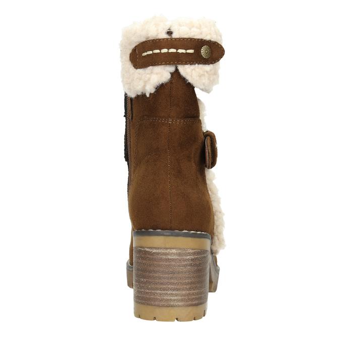 Zimowe buty damskie zklamrami bata, brązowy, 699-4637 - 17
