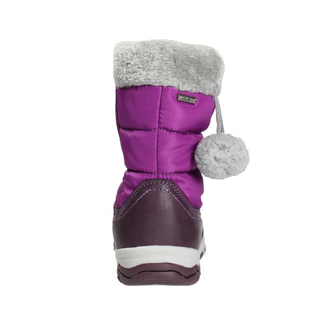 Śniegowce dziewczęce zpomponami mini-b, fioletowy, 399-5656 - 17