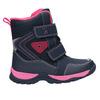 Zimowe buty dziewczęce na rzepy mini-b, niebieski, 491-5653 - 15