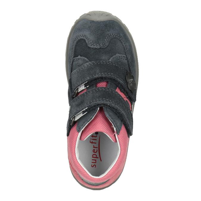Skórzane obuwie dziewczęce za kostkę, szary, 123-2035 - 15
