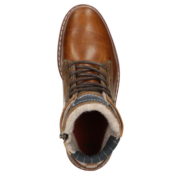 Skórzane zimowe buty męskie bata, brązowy, 896-3666 - 26