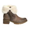Buty za kostkę z kożuszkiem bata, brązowy, 691-2633 - 15