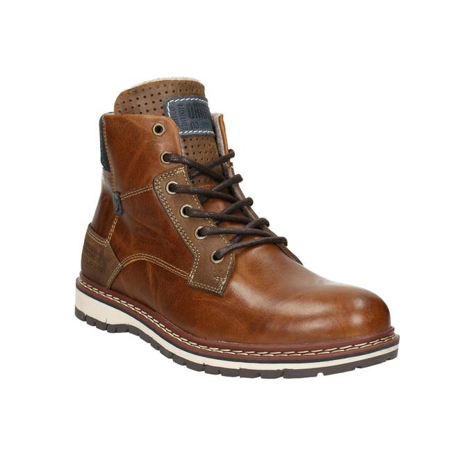 Skórzane zimowe buty męskie bata, brązowy, 896-3666 - 13