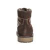 Zimowe obuwie męskie za kostkę bata, brązowy, 896-4657 - 17