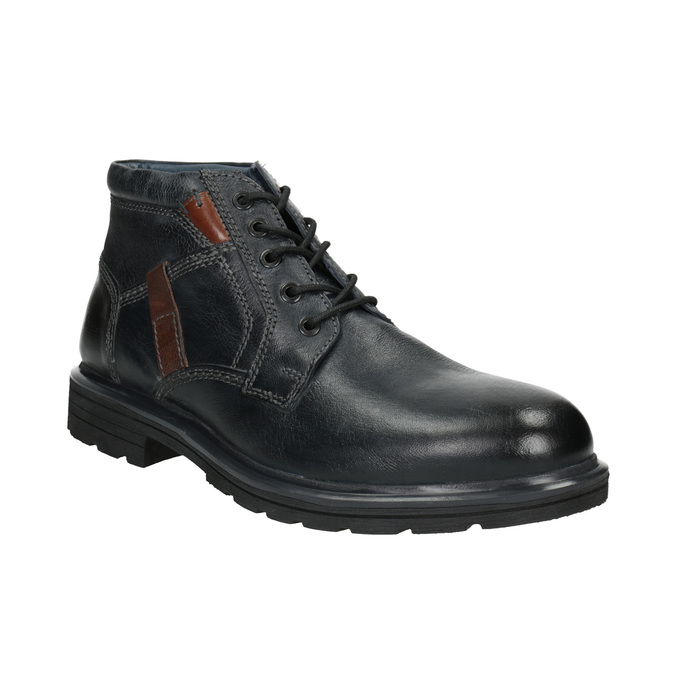 Męskie buty za kostkę bata, niebieski, 896-9682 - 13