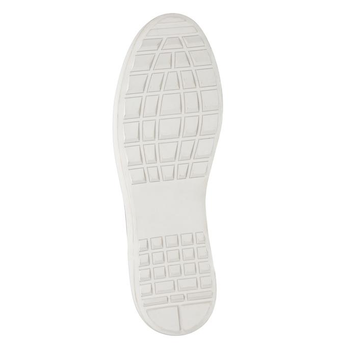 Skórzane trampki męskie bata, brązowy, 846-3643 - 17