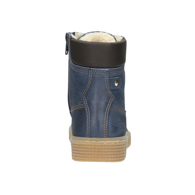 Zimowe buty dziecięce zociepliną mini-b, niebieski, 496-9620 - 16