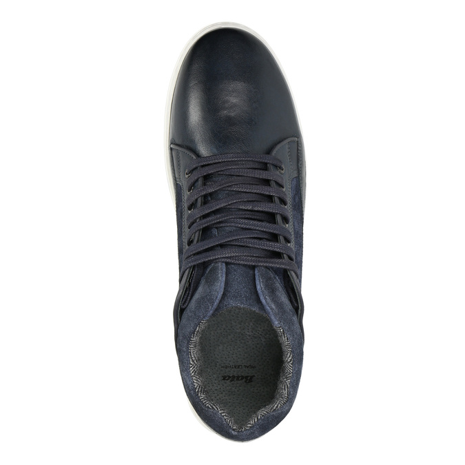 Skórzane trampki męskie bata, czarny, 846-6643 - 15