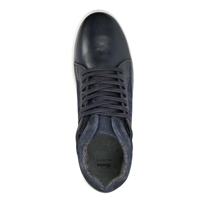 Skórzane trampki męskie bata, 846-6643 - 15