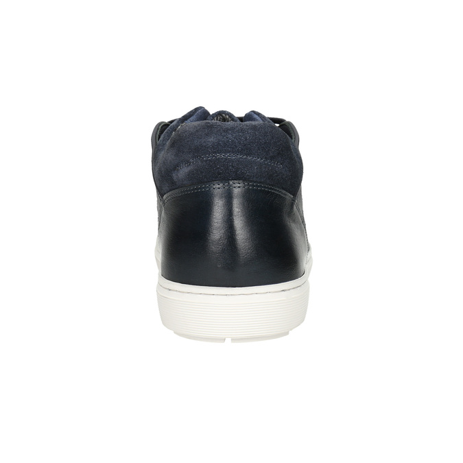 Skórzane trampki męskie bata, czarny, 846-6643 - 16