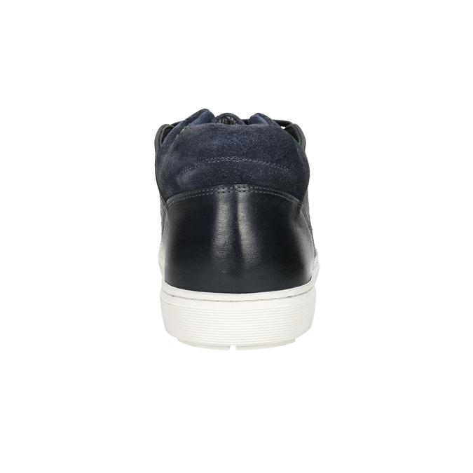 Skórzane trampki męskie bata, 846-6643 - 16
