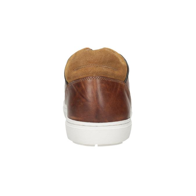 Skórzane trampki męskie bata, brązowy, 846-3643 - 16