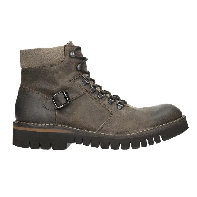 Obuwie męskie za kostkę, na grubej podeszwie bata, brązowy, 896-4683 - 15