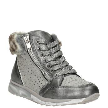 Srebrne zimowe obuwie dziewczęce mini-b, szary, 329-2287 - 13