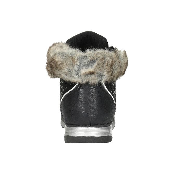 Zimowe obuwie dziecięce zkryształkami mini-b, czarny, 329-6287 - 16