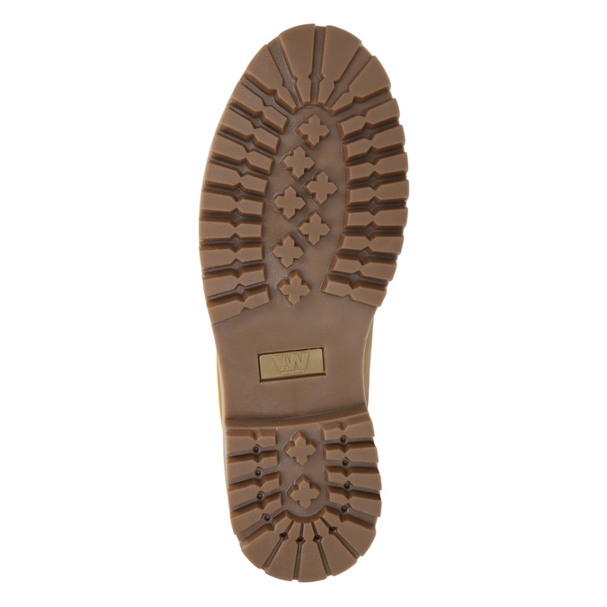 Skórzane obuwie za kostkę weinbrenner, żółty, 896-8669 - 17