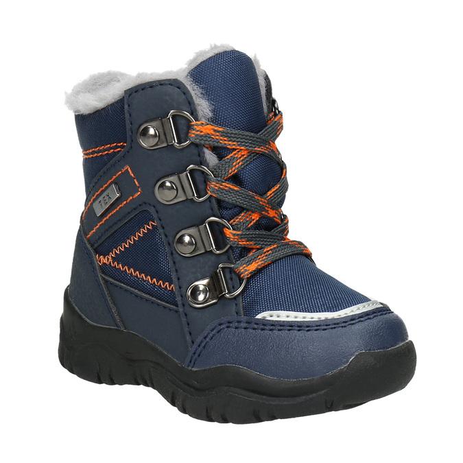 Zimowe buty dziecięce zfuterkiem bubblegummer, niebieski, 199-9603 - 13