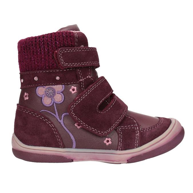 Zimowe skórzane buty dziecięce bubblegummer, czerwony, 124-5602 - 26
