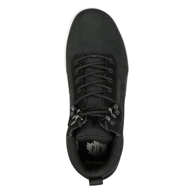 Skórzane obuwie męskie za kostkę k1x, czarny, 806-6552 - 15