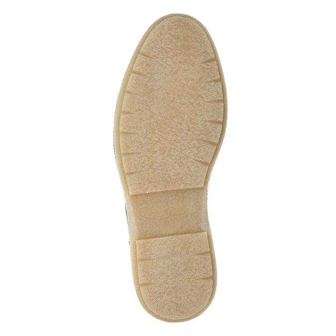 Skórzane buty męskie za kostkę bata, szary, 896-2669 - 17