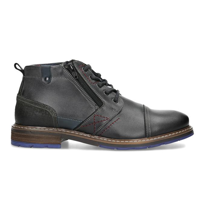 Skórzane obuwie męskie za kostkę zzamkami błyskawicznymi bata, szary, 896-2678 - 19