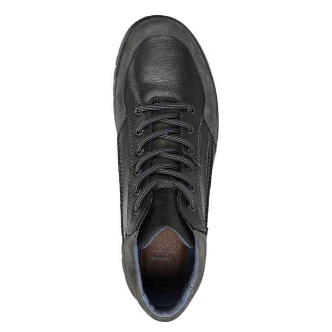 Nieformalne skórzane trampki męskie bata, czarny, 896-6705 - 15