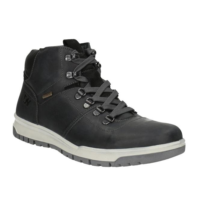Skórzane zimowe buty męskie weinbrenner, czarny, 896-6701 - 13