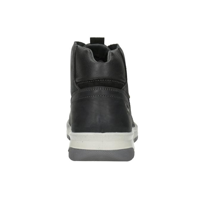 Skórzane zimowe buty męskie weinbrenner, czarny, 896-6701 - 16