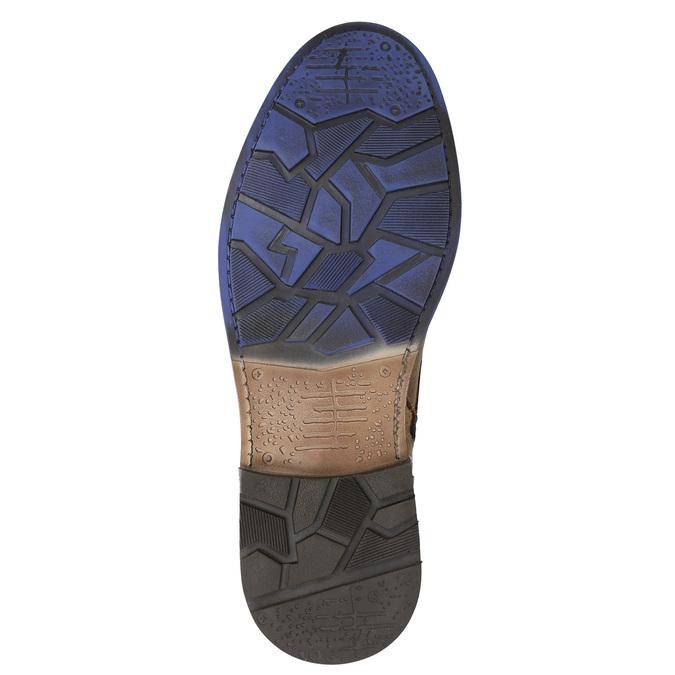 Skórzane buty za kostkę bata, brązowy, 896-3680 - 19