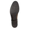 Skórzane kozaki damskie zklamrą bata, brązowy, 594-3427 - 19