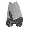 Skórzane rękawiczki zdzianinowymi ocieplaczami bata, szary, 904-2125 - 13