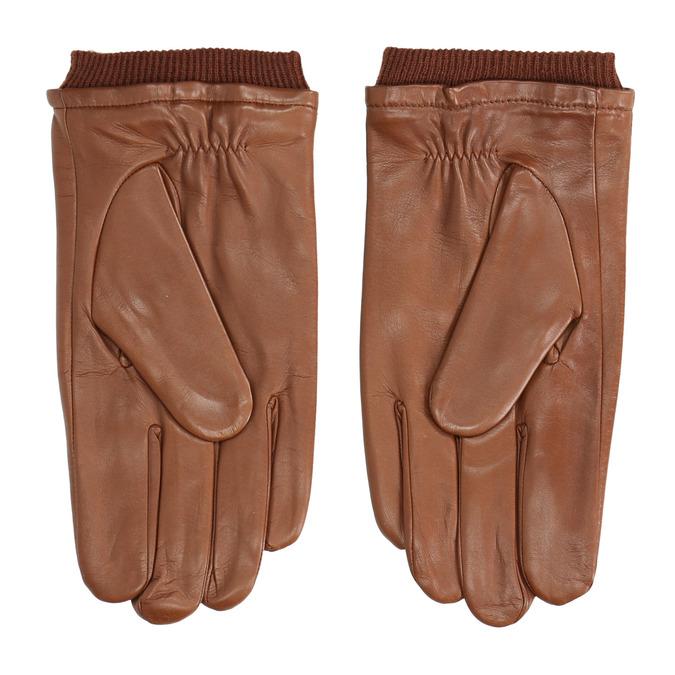 Brązowe skórzane rękawice bata, brązowy, 904-3117 - 16