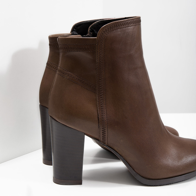 Skórzane botki bata, brązowy, 794-4650 - 14
