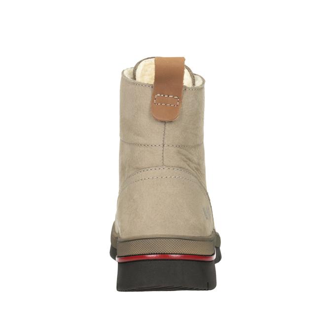 Zimowe skórzane buty damskie za kostkę weinbrenner, brązowy, 596-3666 - 16