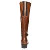 Brązowe skórzane kozaki bata, brązowy, 596-4665 - 17