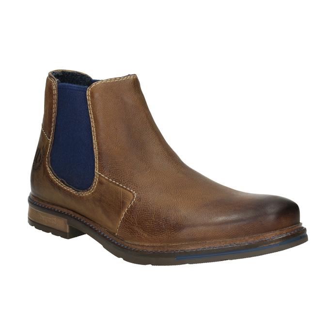 Skórzane obuwie typu Chelsea bugatti, brązowy, 896-4035 - 13