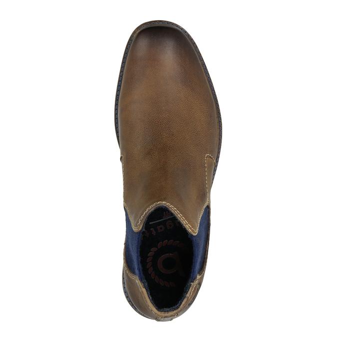 Skórzane obuwie typu Chelsea bugatti, brązowy, 896-4035 - 15