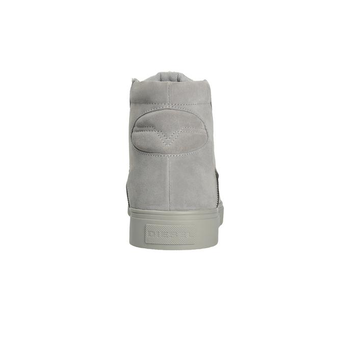 Skórzane buty męskie za kostkę diesel, szary, 803-2629 - 16