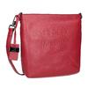 Czerwona skórzana torebka typu crossbody picard, czerwony, 964-5094 - 13