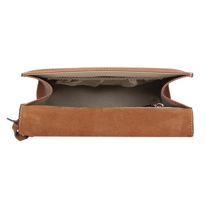 Brązowa skórzana torebka typu crossbody picard, brązowy, 966-3051 - 15