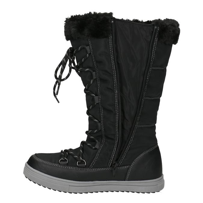 Pikowane śniegowce damskie bata, czarny, 599-6621 - 15