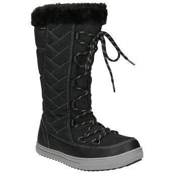 Pikowane śniegowce damskie bata, czarny, 599-6621 - 13
