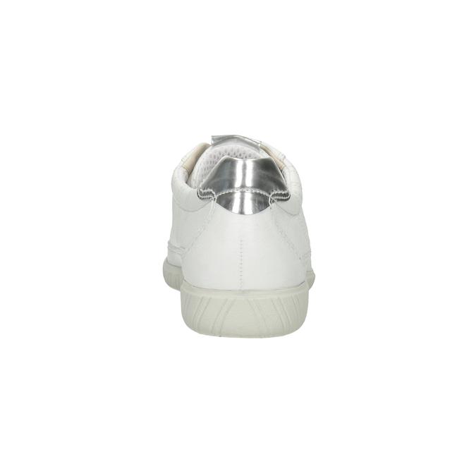 Białe trampki ze skóry gabor, biały, 626-1204 - 16
