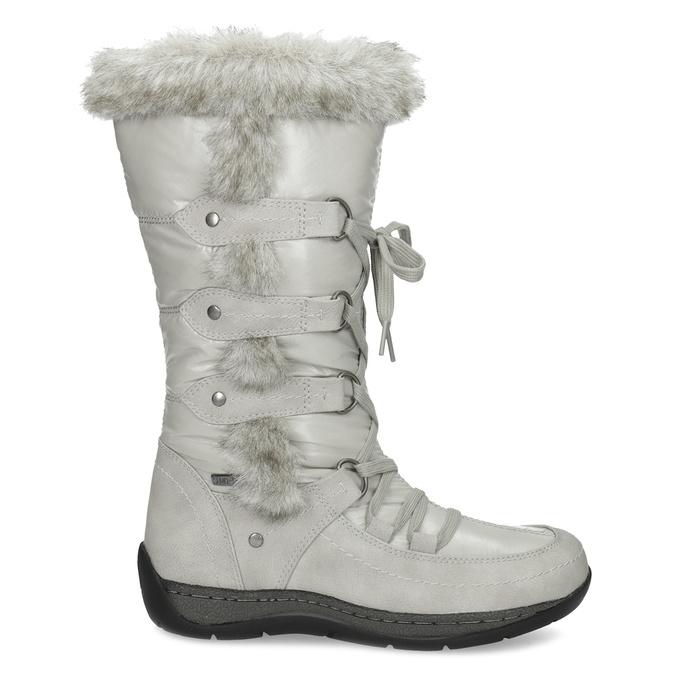 Zimowe śniegowce zfuterkiem bata, szary, 599-8618 - 19