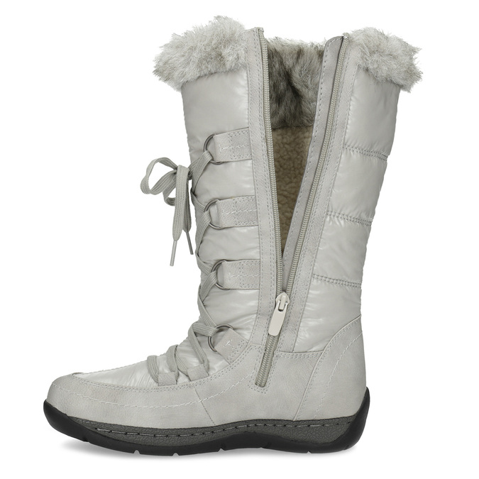 Zimowe śniegowce zfuterkiem bata, szary, 599-8618 - 17