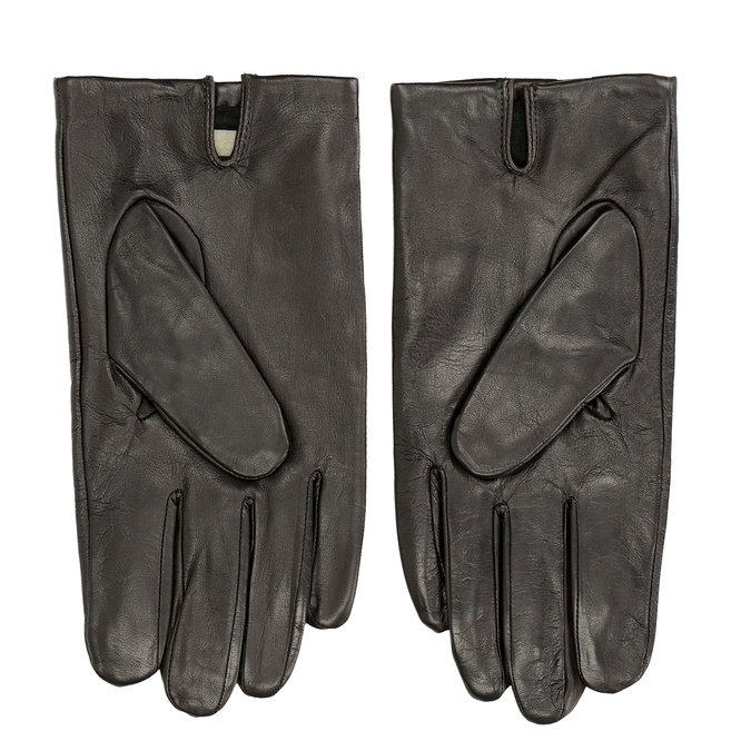 Brązowe skórzane rękawiczki bata, brązowy, 904-4130 - 16