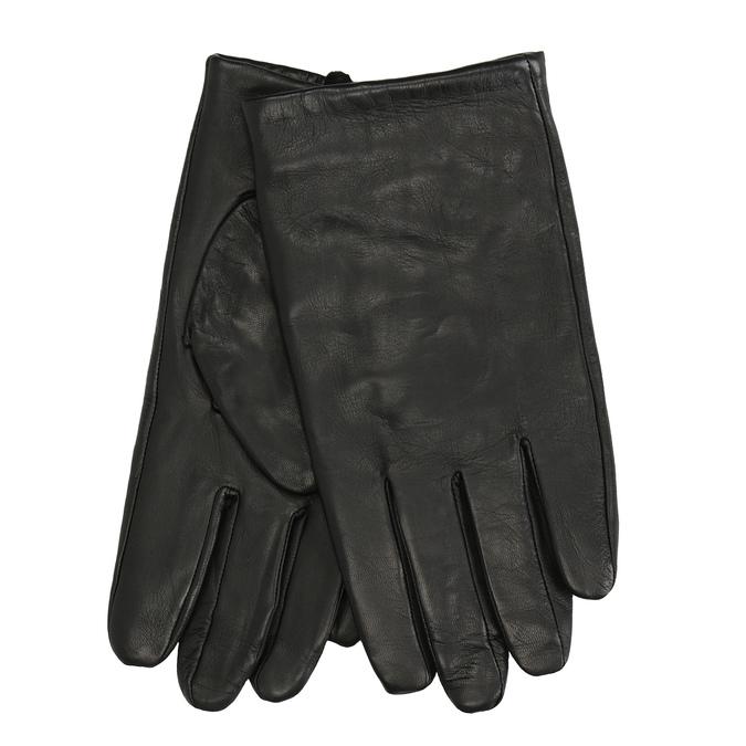 Czarne skórzane rękawice bata, czarny, 904-6130 - 13